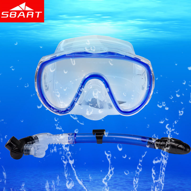 SBART Scuba Diving Mask Snorkel Silicone Underwater Diving Goggles And Snorkel Easybreath 2Pcs Diving Equipment Gafas Buceo H(China (Mainland))