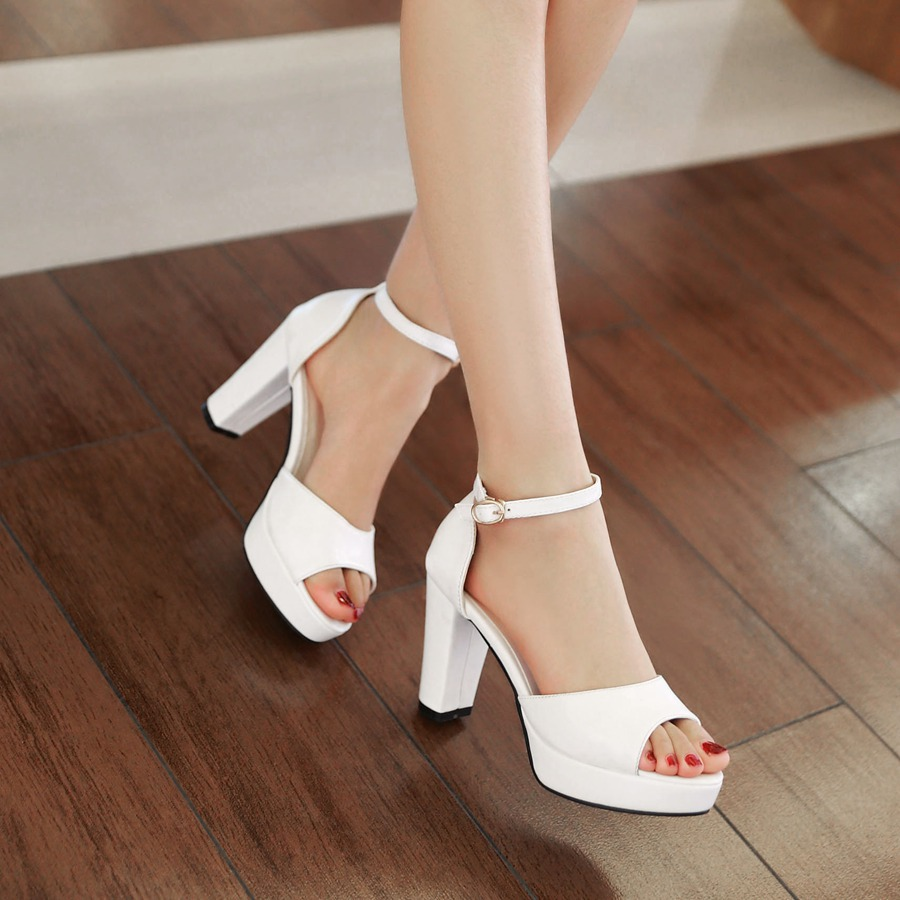 2015 brand womens summer wedding shoes ladies peep toe platform sandals white mint green sexy high heels strappy sandals 206-2(China (Mainland))