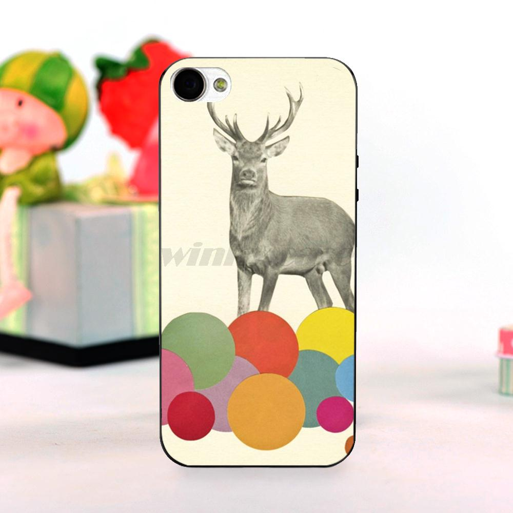 Kids Deer A Stag in Heaven High Quality phone Accessories cover For iPhone 5c case(China (Mainland))