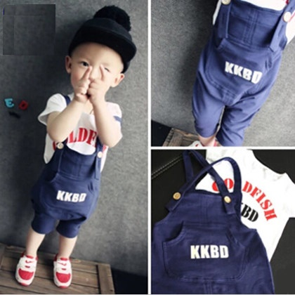 Spring Clothing Set Children Kids Clothes Baby Boy Gentleman Formal Suits Little Boy T-shirt+Suspender Trousers Overall Outfits(China (Mainland))