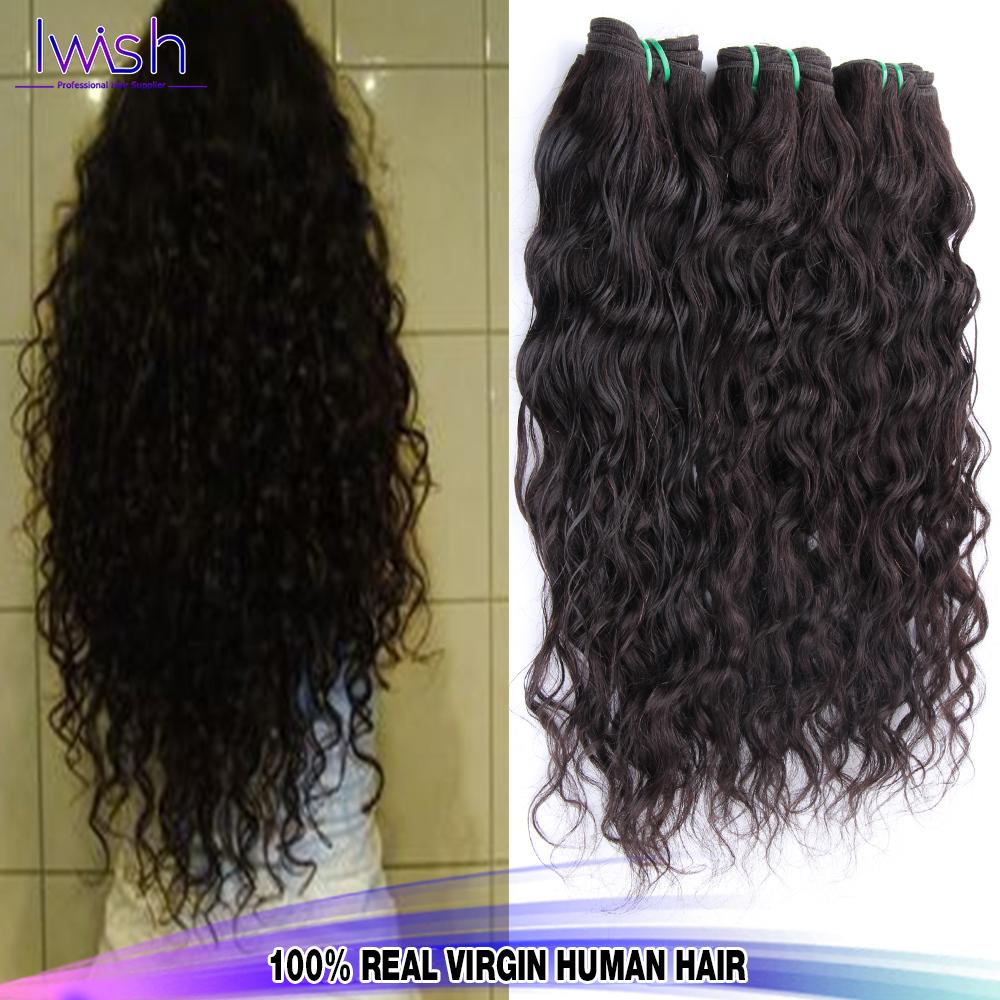 6a Best Peruvian Virgin Hair Water Wave Iwish Hair cheap Peruvian Water Wave 4 Bundles Vip Beauty Human Hair Weave Curly 100g 1b(China (Mainland))