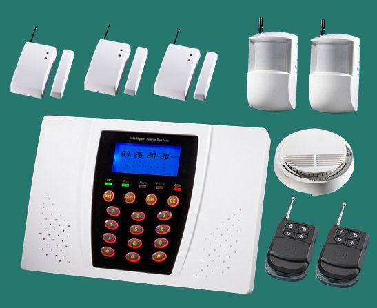 Complete Alarm Systems | Alarm panel +PIR +Door contact +smoke sensor | Home security systems | burglar & fire alarm wholesale