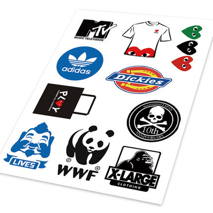 PLAY Dickies WWF MTV Reflective Ho Car Auto Motorcycle Decal Logo Set Sticker Cover Ipad Notebook Laptop Helm Handy Car Styling(China (Mainland))