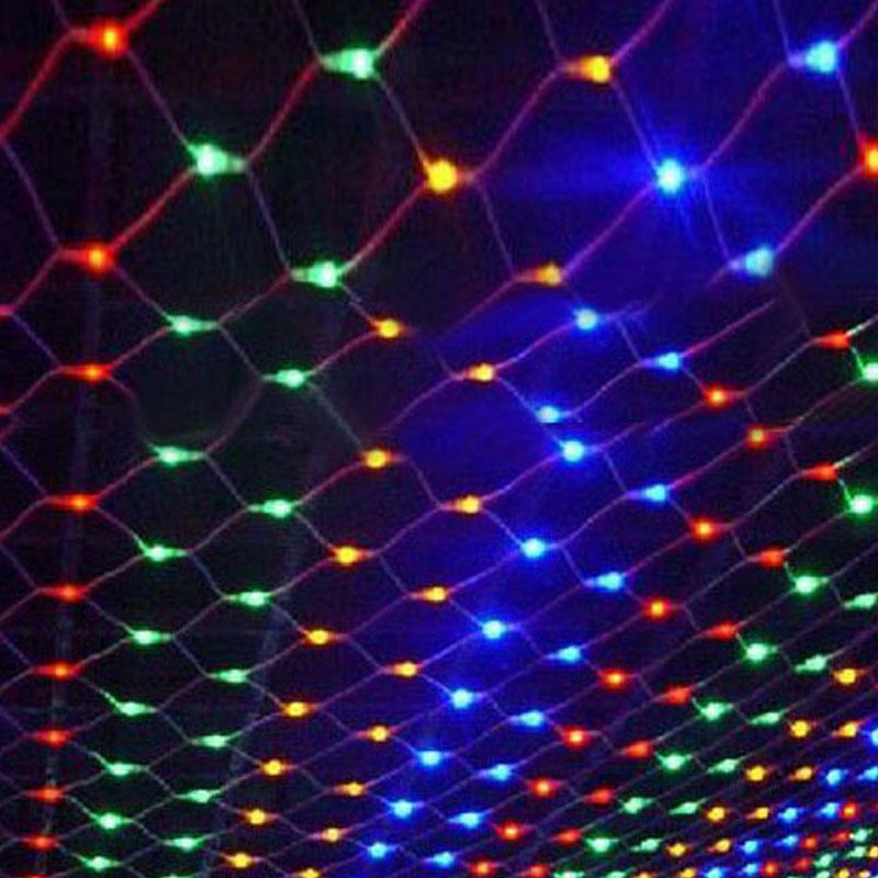 1.5X1.5m 96 Led Net String light EU 220V Led Curtain Twinkle Lamp Garland Wedding Party Christmas decoration holiday lights(China (Mainland))