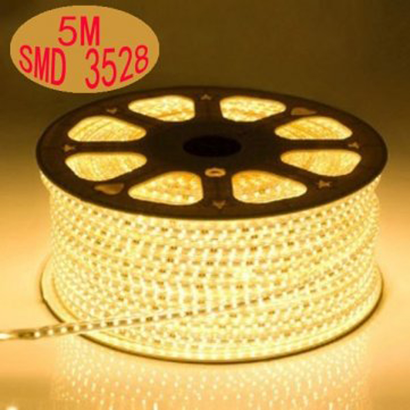 Kitop 5m 220V led 3528 SMD led Strip rope Light 60leds/m Waterproof IP67 LED strip high voltage flexible led strip with plug(China (Mainland))