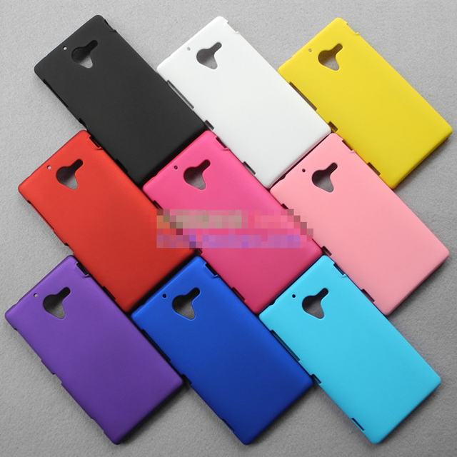 Free Shipping! Rubber Matte Hard Back Case for Sony Xperia ZL L35h C650x, Frosted Hard Cover for Sony Xperia ZL, SON-002