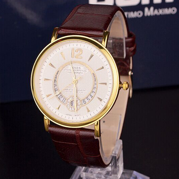 Perfect woman watches 2015 new watches leather strap brand fashion Circular calendar fashion leisure is contracted