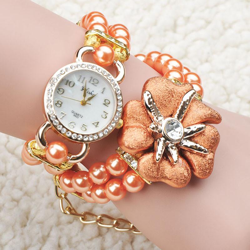 Bracelet Watch Bands Pearl Band Quartz Bracelet