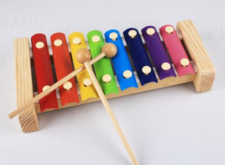Free shipping, Exempt postage, eight xylophone, children's educational toys, yellow dog dragging on piano, vocal music toys(China (Mainland))