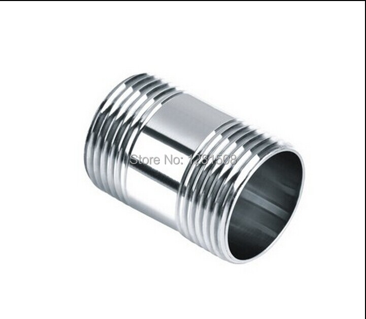 """304 stainless steel silk light pipe of wire round the short wire 1/2""""BSP Full Coupler - , Brewer Hardware, Pump Fitting(China (Mainland))"""
