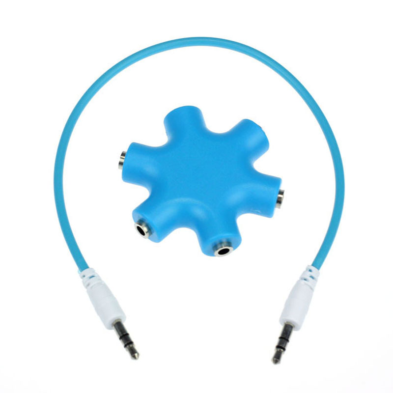 Free shipping 3 5mm Earphone Headphone Audio Splitter 1 Male to 2 3 4 5 Female