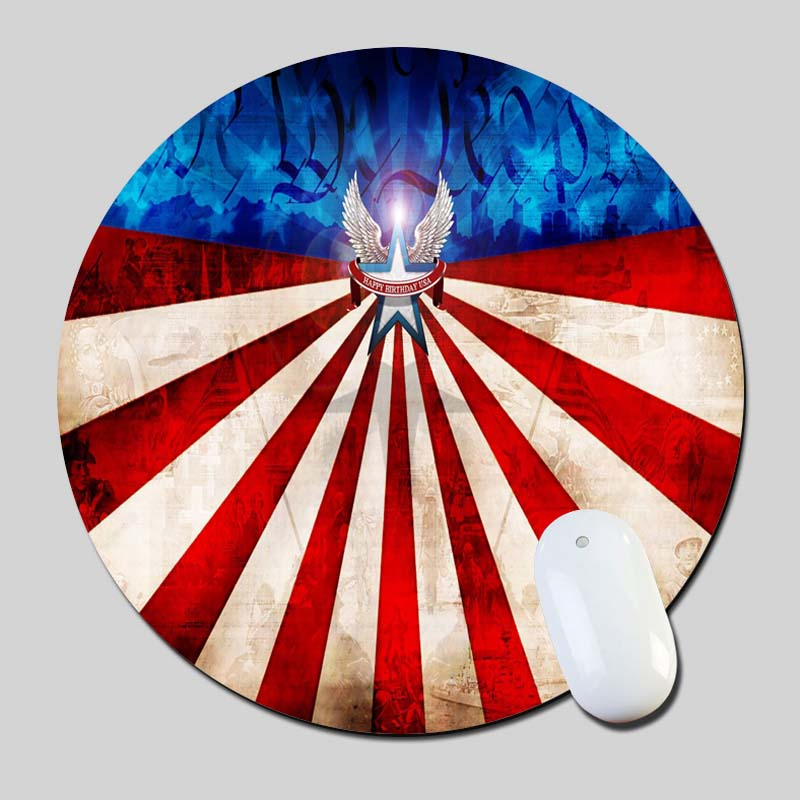 4Th Of July 2016 Round Gaming Mouse Mats Mice Pad for Size 200*200*2mm
