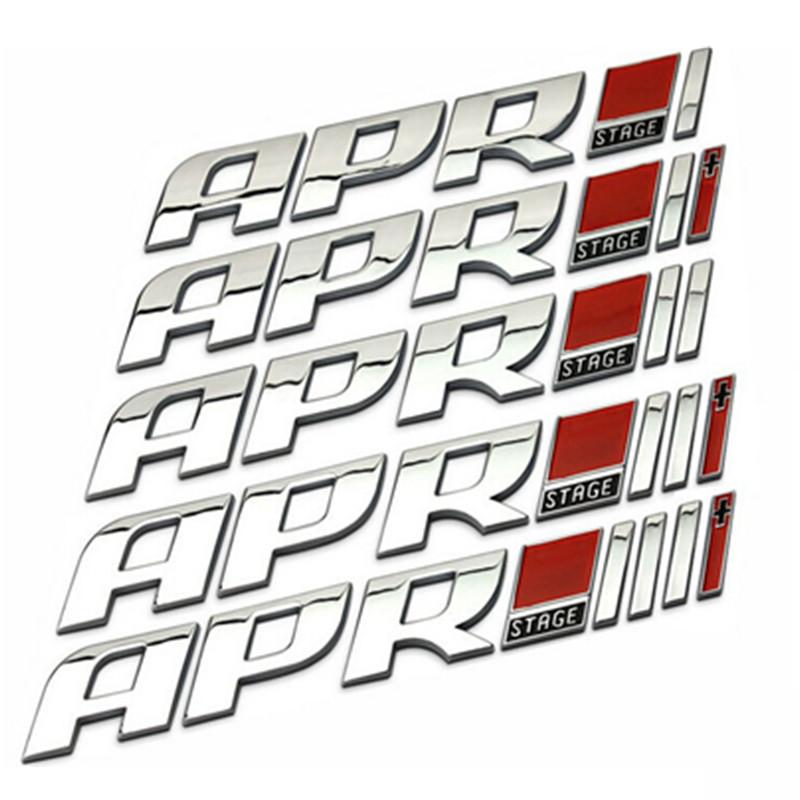 Dropship ABS APR STAGE 1+ 2+ 3+ Racing Car Emblem Badge APR STARGE 1 2 3 Plus 3D Sticker Auto Exterior Logo Decoration VW GOLF(China (Mainland))