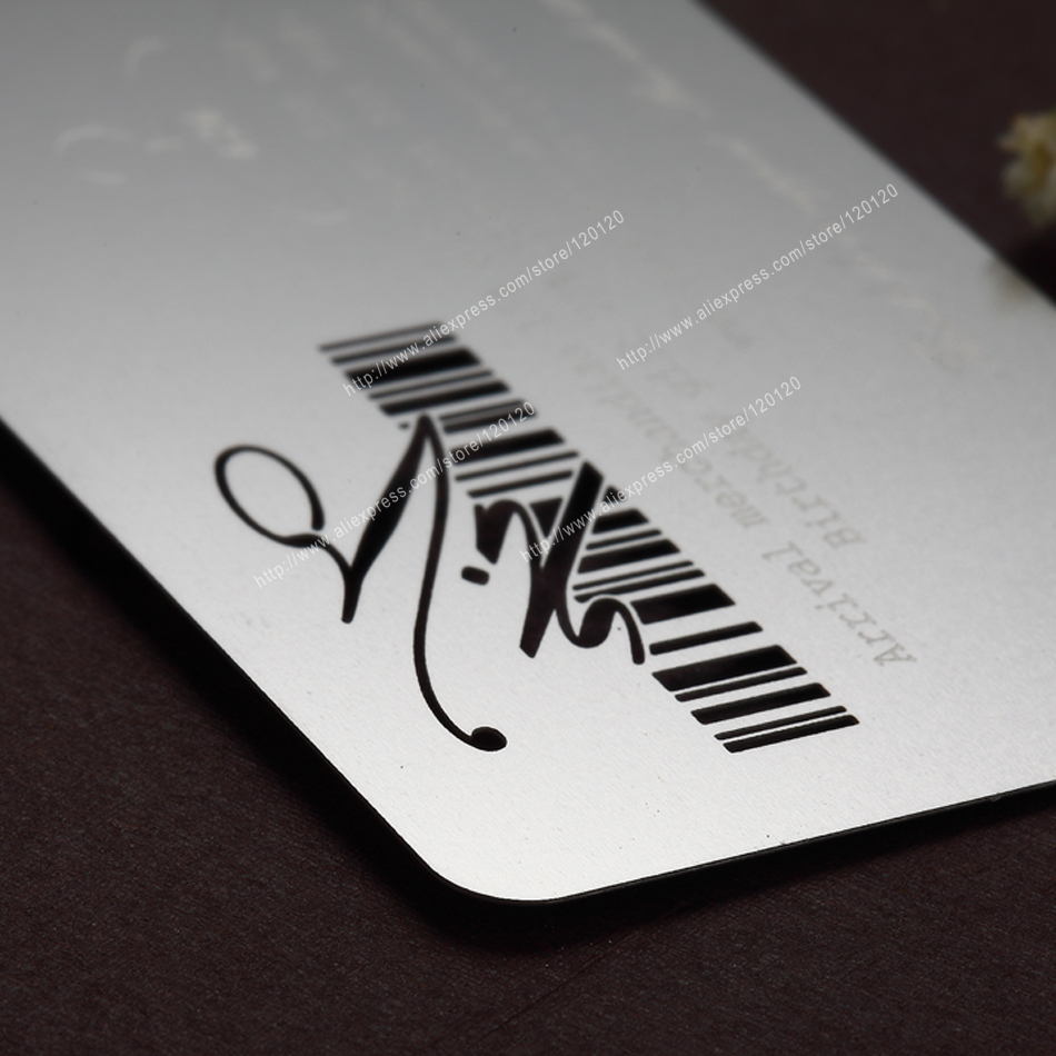 Personalized cutout quality stainless steel business metal card<br><br>Aliexpress