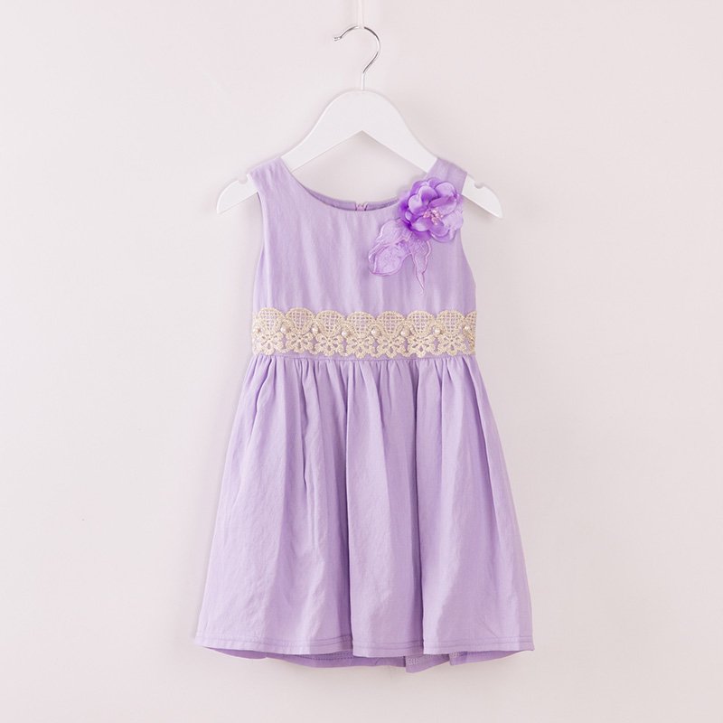 kids frocks designs Costume Casual lace dress purple Pattern dresses clothes girls party wear flower girls holiday for a girl(China (Mainland))