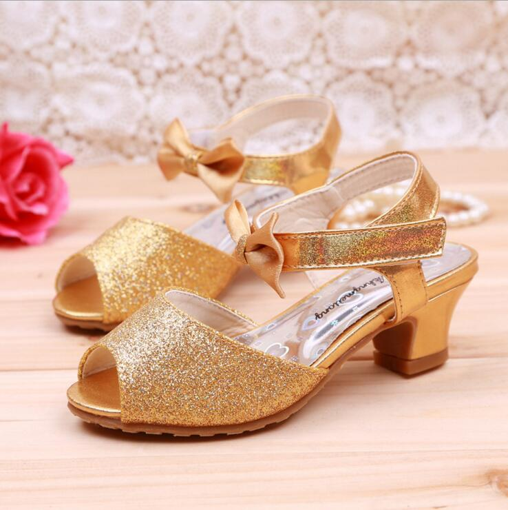 New 2016 Children Princess Sandals Girls Shoes High Heels Dress Party Shoes For Girls Dance Shoes .<br><br>Aliexpress