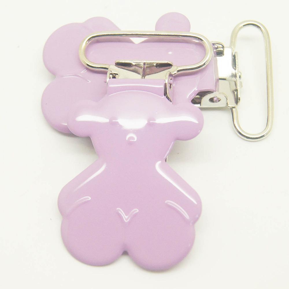 Здесь можно купить  200pcs/lot bear suspender clip in lavender color 25mm ribbon wholesale Suspender Clip,Suspender Clip Supplier & Manufacturer  Аппаратные средства
