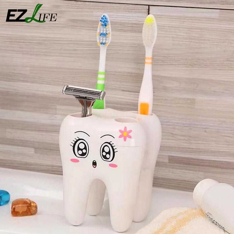 Buy cartoon toothbrush holder 4 hole for Bathroom accessories electric toothbrush holder