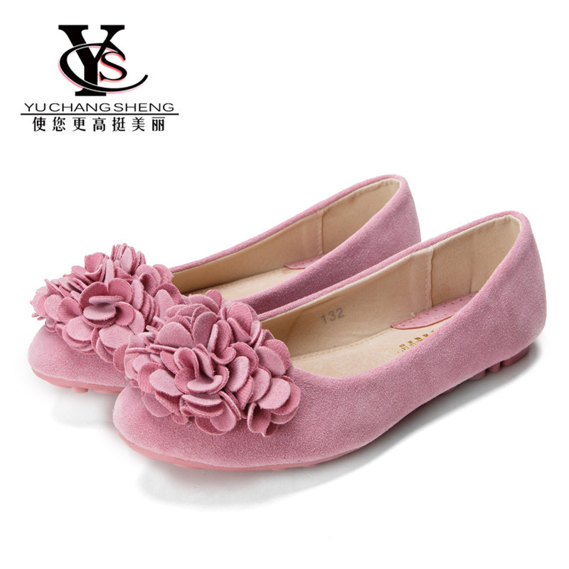 Women Shoes Spring 2016 Fashion Women Flower Flat Shoes Casual Slip On Ballet Flats Breathable Pregnant Shoes Plus Size 34-42