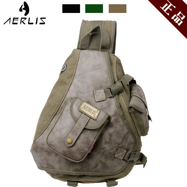 Enhanced version of the big canvas chest pack vintage shoulder bag man bag male casual backpack multifunctional cross-body<br><br>Aliexpress