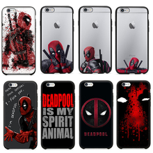 Hot Selling 3D Super Cool Marvel Hero Deadpool Coque Fundas Black Soft Silicone Case For iPhone 5 5S 6 6S 6Plus SE Cover Case(China (Mainland))