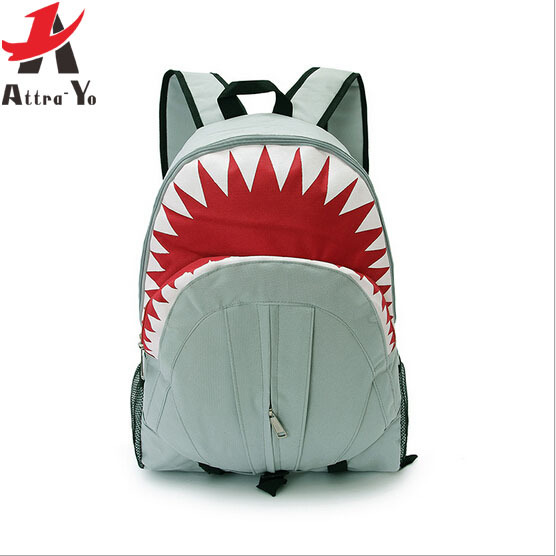 Attra-Yo! 2015 Free Shipping! Hot Sale Children Fashion Shark Backpack Cute Backpacks Boy's Travel Bags School Bag LS6118(China (Mainland))