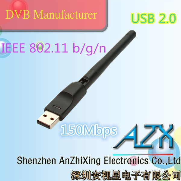 best selling products in america AZX-RT5370 wifi adapter satellite tv receiver(China (Mainland))