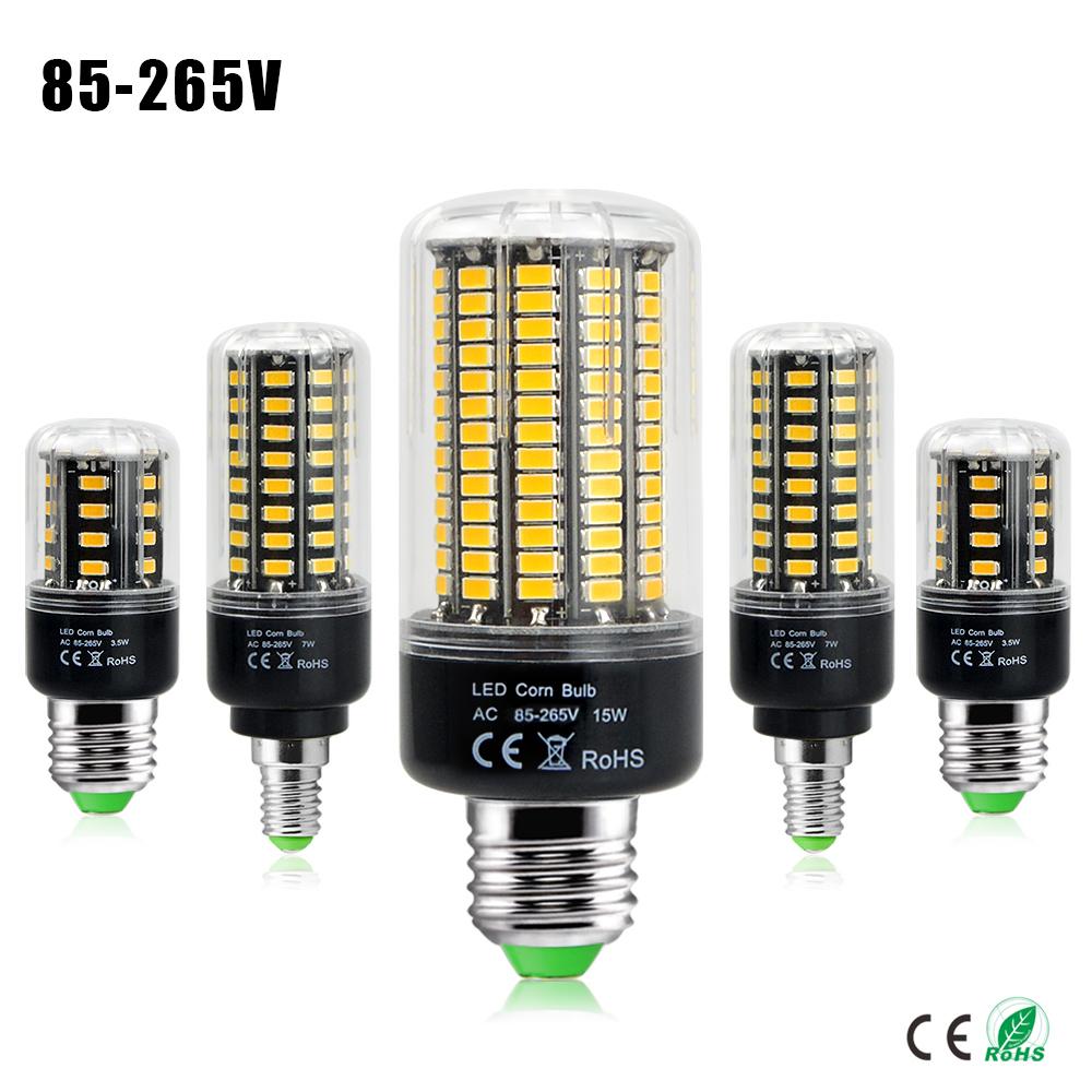 1Pcs 5736 SMD More Bright 5730 5733 LED Corn lamp Bulb light 3.5W 5W 7W 8W 12W 15W E27 E14 85V-265V No Flicker Constant Current(China (Mainland))