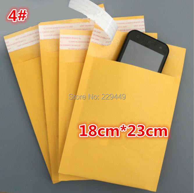 "Freeshipping Bubble Mailer Padded Envelopes Bags Kraft Bubble Mailers Mailing Envelope Bag 7.1""X9.1"" (18cmx23cm) Factory Sales(China (Mainland))"