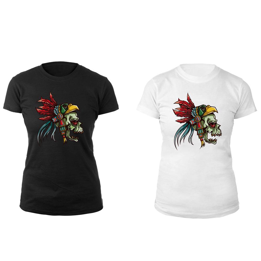 Hot summer woman skull shirt digital print combed cotton for Digital printed t shirts