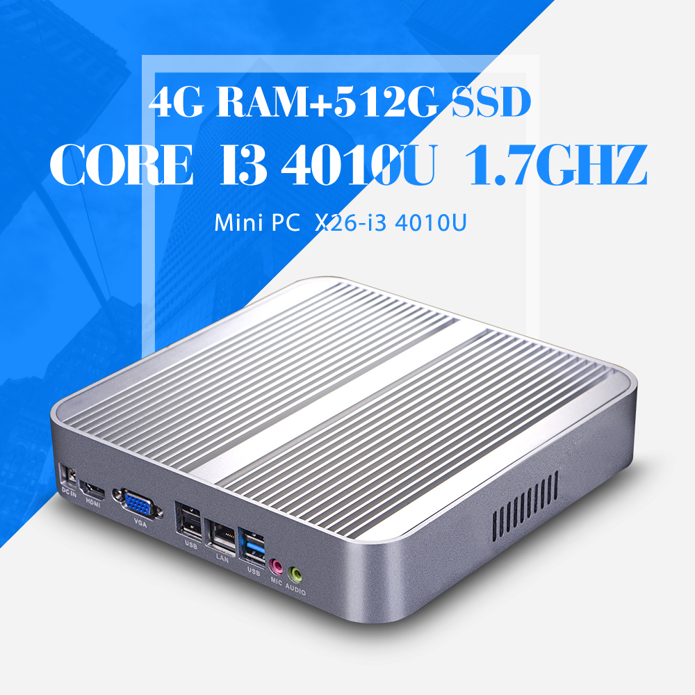 Mini PC for Game I3 4010U 6*USB Thin Client Mini Fanless PC Support Linux OS Ubuntu mini computer(China (Mainland))
