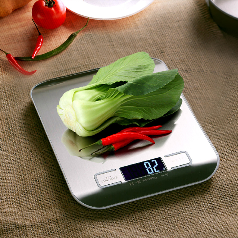 Stainless steel household kitchen scale baking cakes said for Kitchen scale for baking