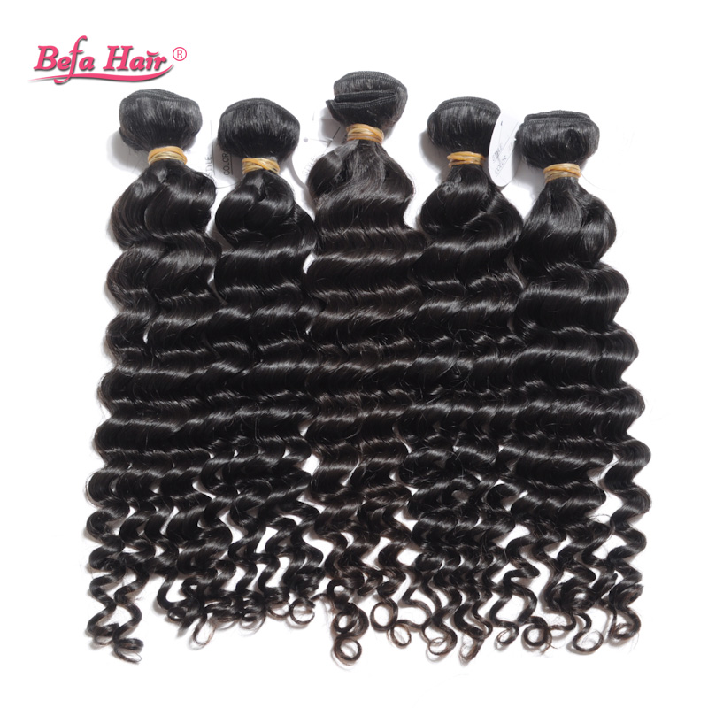 2pcs/lot peruvian hair virgin human hair weave for sale unprocessed deep wave 6A hair befa hair products free shipping 12-30in(China (Mainland))
