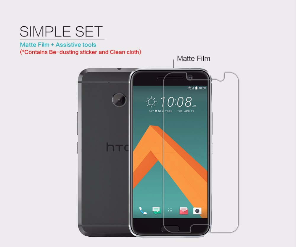 Nillkin film for HTC 10 HD/Scrub Front + Camera screen protector for HTC 10 Lifestyle protective matte screen film 5.2 inch