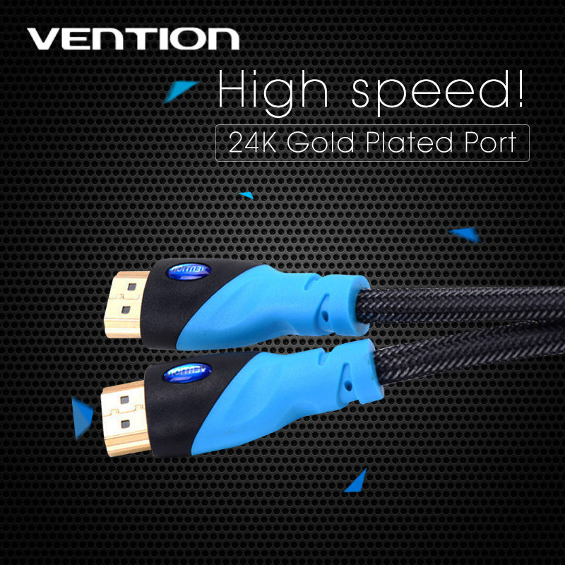 Best Quality Vention Male to Male 5M HDMI Cable Gold Plated HDMI 1.4V 1080P 3D For Ps3 For Xbox For appletv For HDTV Computer