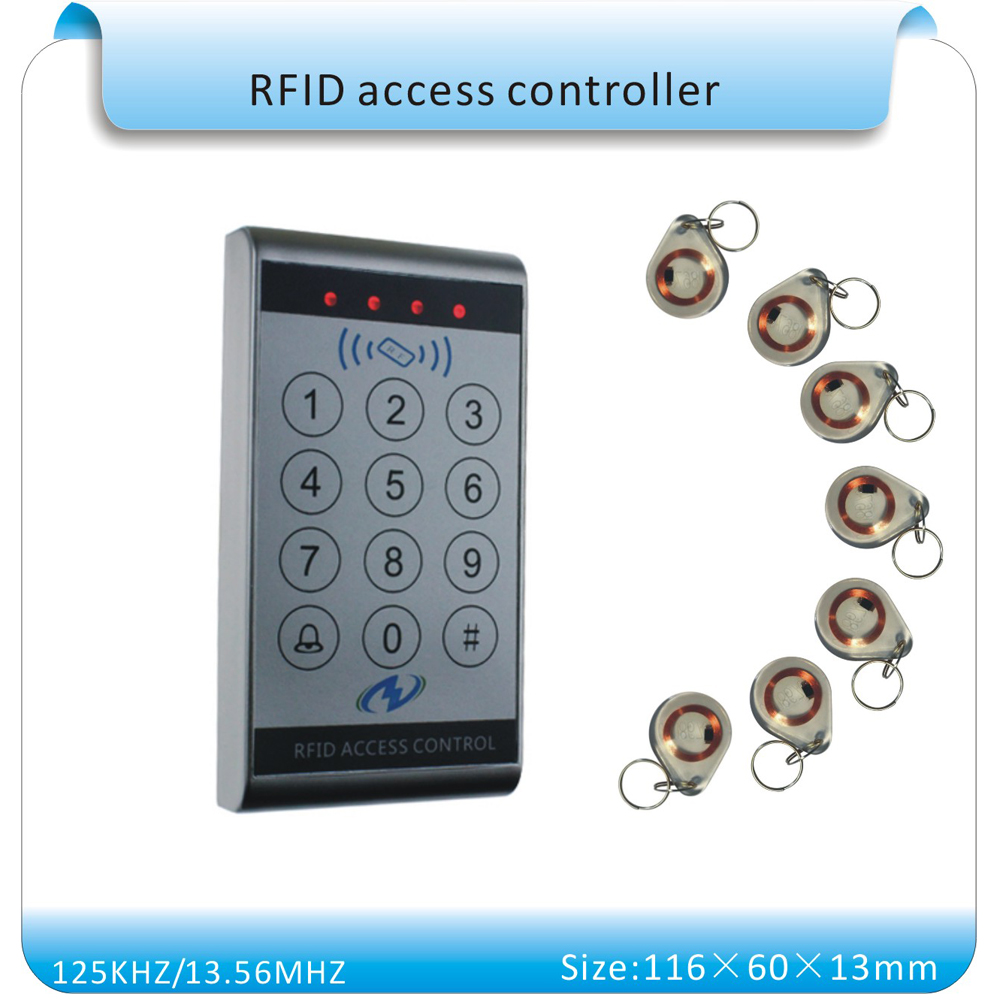 Free shipping sy-k13 waterproof & touch keyboard 125KHZ RFID access control system number keyboard (wg26 port)+10pcs keyfobs(China (Mainland))