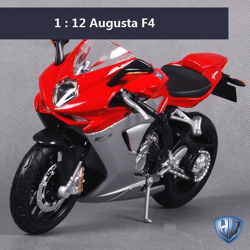Maisto 1:12 motorcycle models for Augusta F4 race car Diecast motorbike metal models kids toys for Children