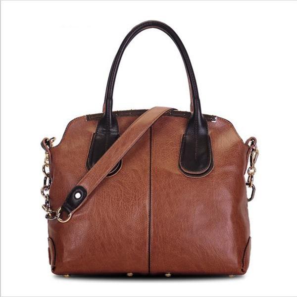 2015 women leather handbag fashion vintage shoulder bag British style messenger new crossbody bolsas totes - REDBERRY WOMEN LEATHER BAGS STORE store
