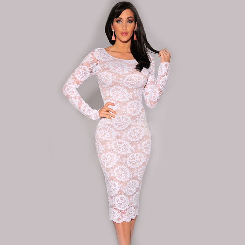 download image crochet long sleeve white lace dress pc android