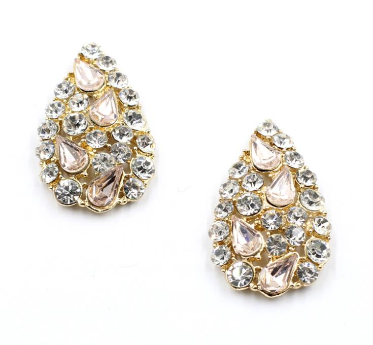 New Arrival fashion women statement crystal Earrings for women 2015 jewelry wholesael supplier(China (Mainland))