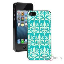 Damask Fluer De Lis Protector back skins mobile cellphone cases for iphone 4/4s 5/5s 5c SE 6/6s plus ipod touch 4/5/6