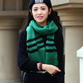 Unisex Autumn Winter Striped Stripes Brief Fashion Patchwork Woolen Scarf Warm Thick Ladies Muffler Female Shawl