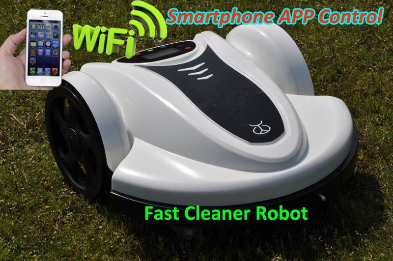 Smartphone Wifi APP Control Lawn Mower Robot with Updated Water-Proofed Charger+Subarea Function+Pressure Sensor(China (Mainland))