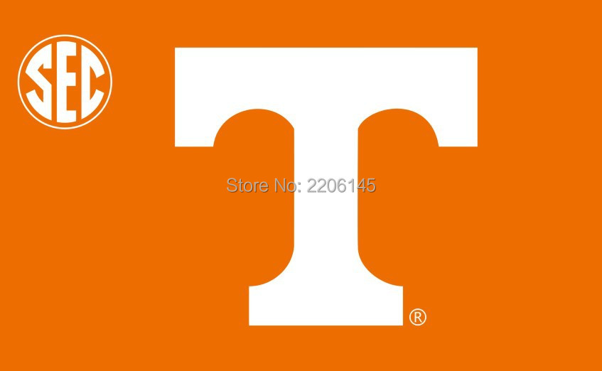 The University of tennessee Volunteers NCAA Flag hot sell goods 3X5FT 150X90CM Banner brass metal holes(China (Mainland))