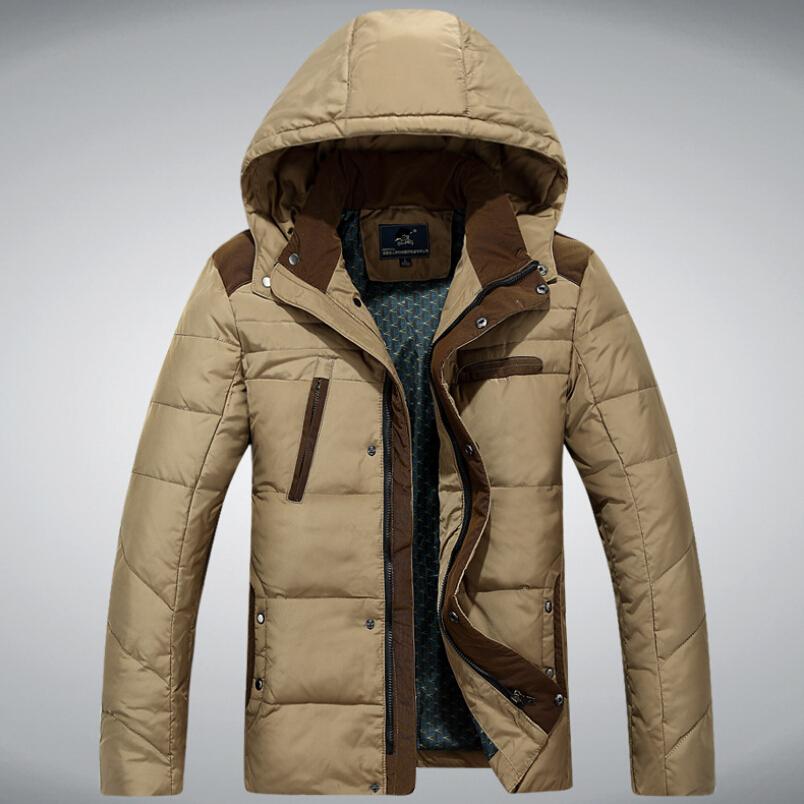 2015 Brand Men Down Jacket Thick Plus Size Parka Men Men's Winter Jackets Coat Man 90% Duck Down Jacket Outdoor Down-Jacket