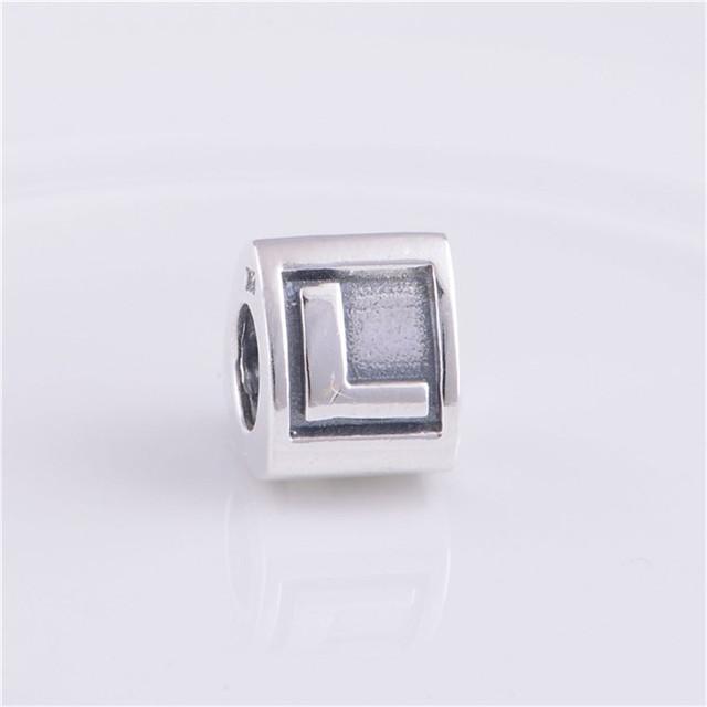 Подходит пандоры прелести браслет 925-Sterling-Silver письмо L бусины треугольной формы европейские женщины DIY мода ювелирных изделий