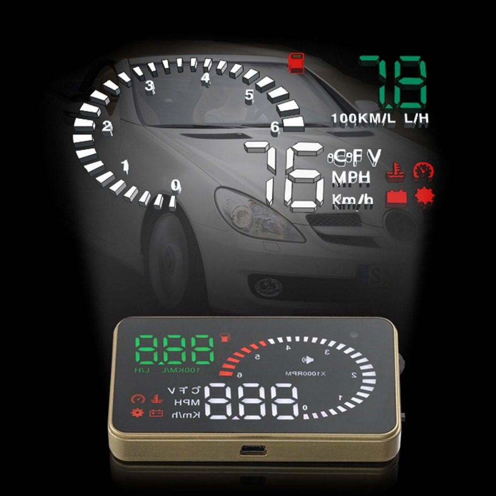 3 Inch X6 Ultra-clear Auto Car HUD Display with Speed / Engine Speed / Fuel Consumption/ Overspeed Alarm Function(China (Mainland))
