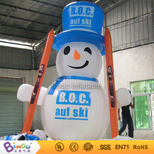 Buy inflatable christmas santa claus cartoon 4m inflatable blue cap snowman Christmas decoration festival toy for $650.00 in AliExpress store