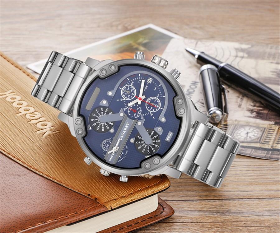Высокое Качество Мода повседневная военная часы Мужчины Мальчик Luxury Brand горячая Guote Мужчины Часы Подарок для мужчины Все Из Нержавеющей Стали часы