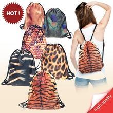 Backpacks print ANIMALS jelly fish tiger panther zebra peacock(China (Mainland))